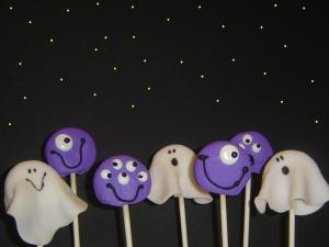 monster and ghost cookie pops