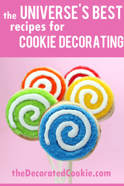BEST cookie decorating recipes, including cut-out sugar cookies, royal icing (sugar cookie icing), and buttercream frosting.