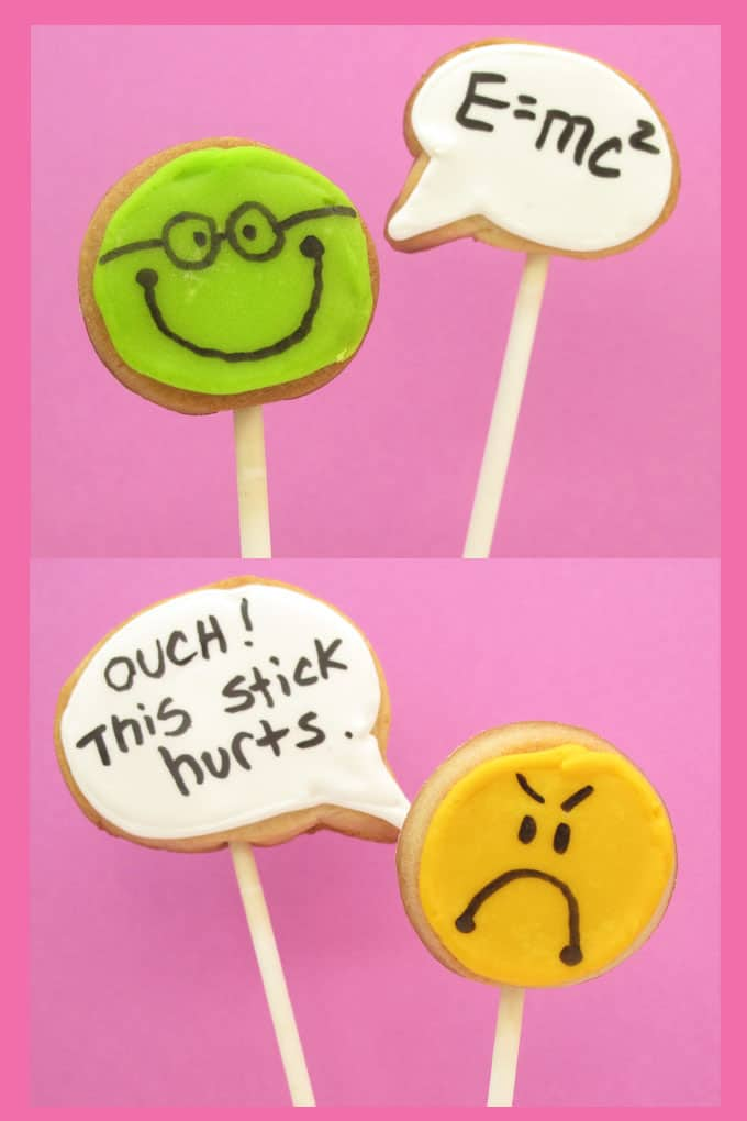 how to decorate speech bubble cookies #cookiedecorating #speechbubble