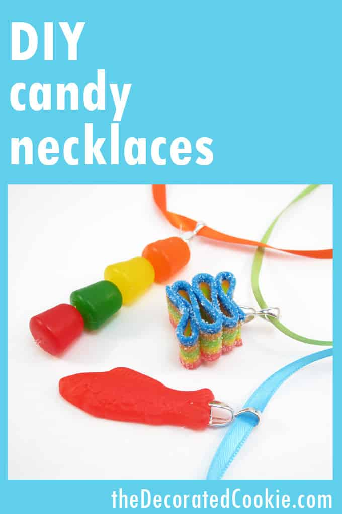 CCute crafts for kids: Make candy necklaces and easy cupcake toppers for any occasion. #candynecklace