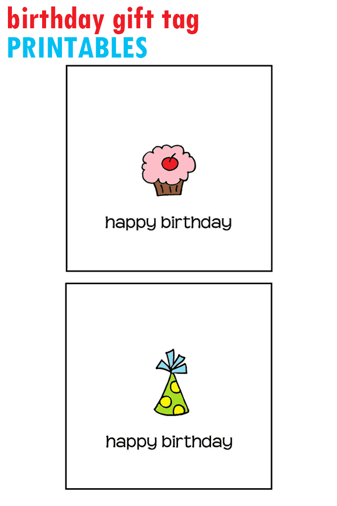 Birthday Gift Tag Printable Free Tags You Can Print At Home DIY