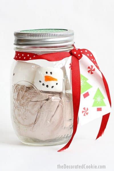 mason jar hot chocolate