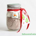 marshmallow snowman hot cocoa jars