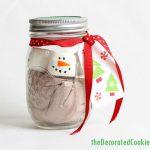 marshmallow snowman hot cocoa jars