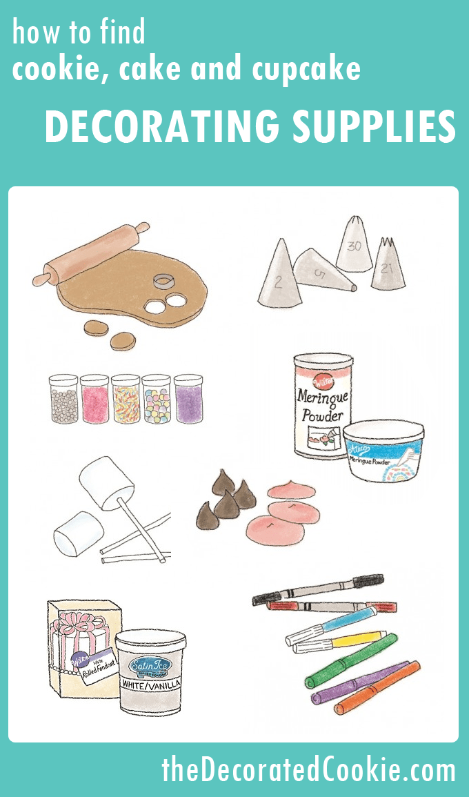 cookie decorating supplies, what you need and where to find them