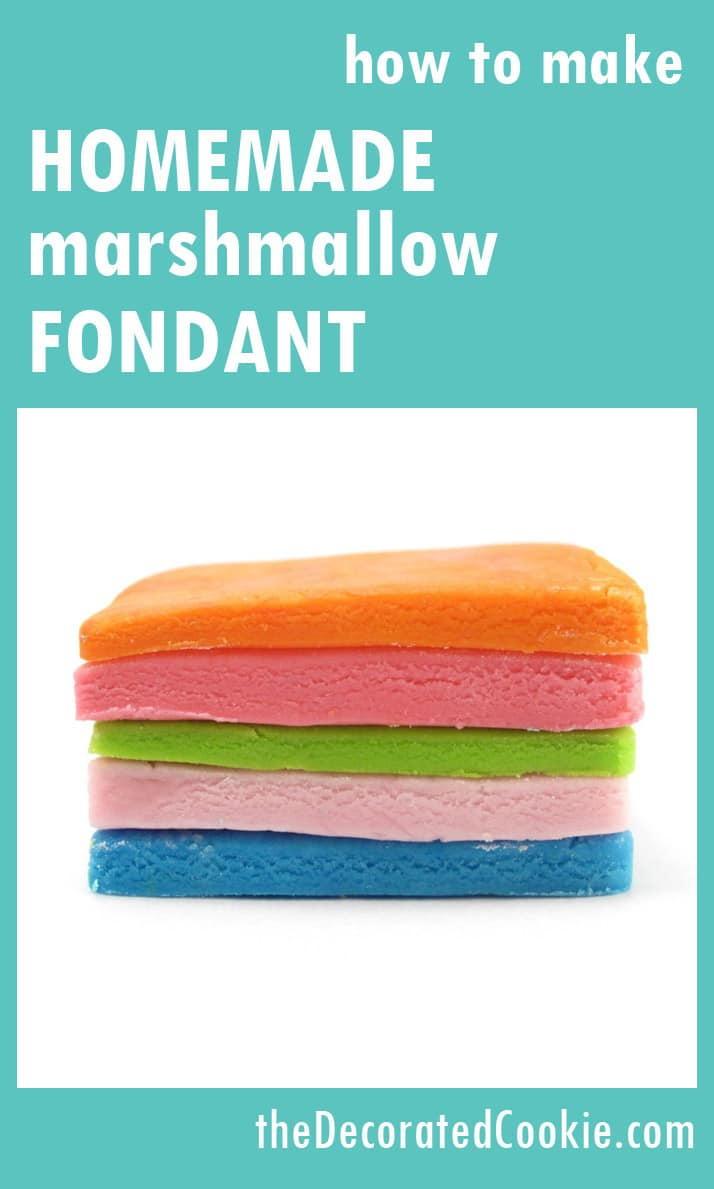 how to make simple homemade marshmallow fondant