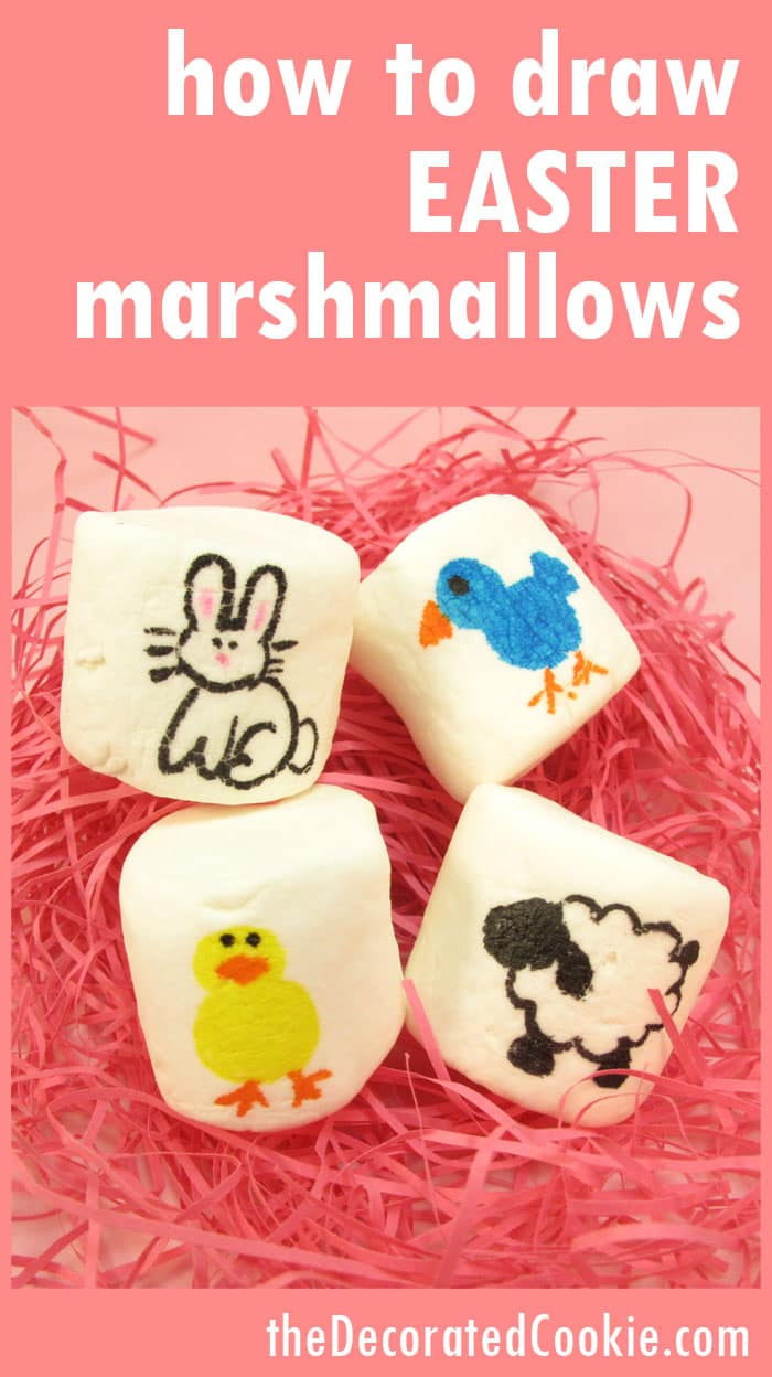 how to draw Easter marshmallows
