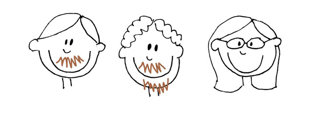 Family Portrait Cookies: Decorate cookies with food coloring pens personalized with your family or pets. Also, how to draw cartoon faces. #cookiedecorating #familycookies #familyportrait #howtodrawcartoons #cartoonfaces