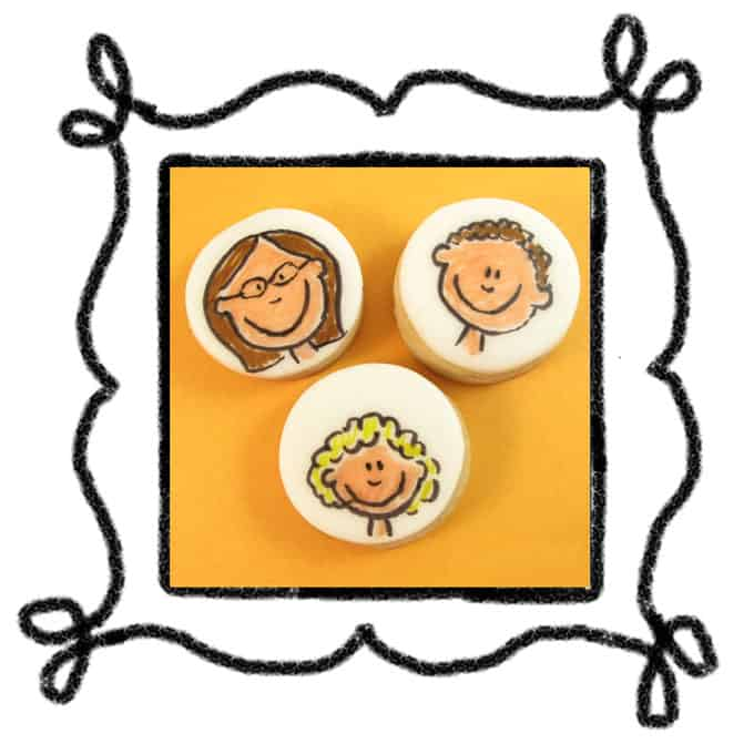 family portrait cookies decorate cookies with food coloring pens