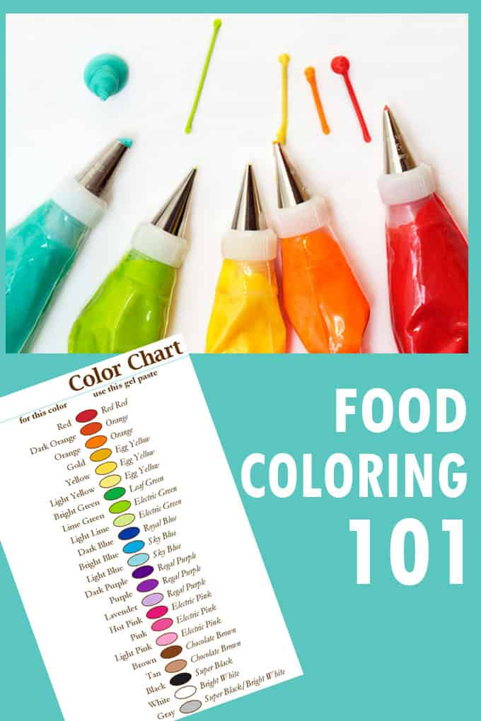 food coloring 101: colors to buy, how to mix frosting and icing color