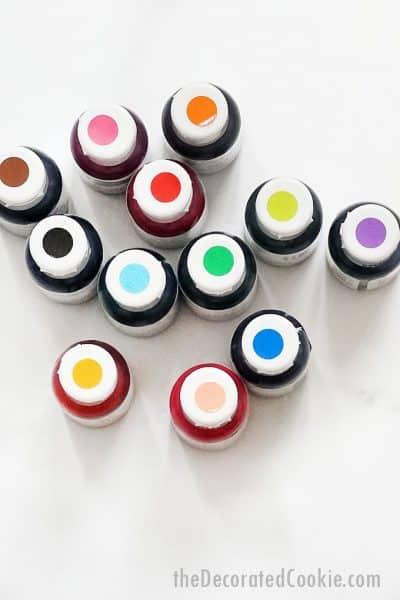 food coloring bottles