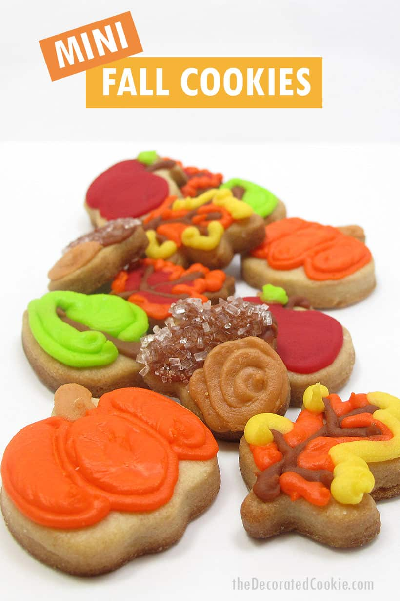 mini fall cookies