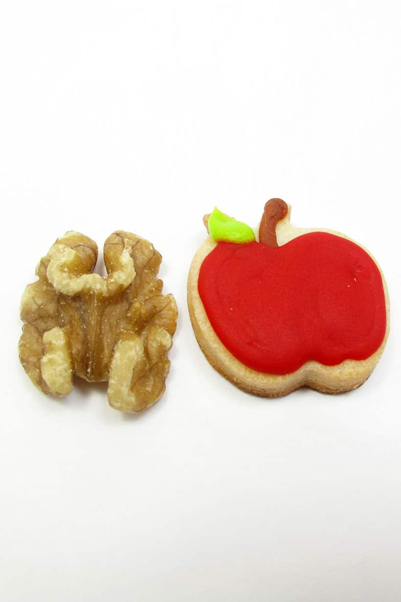 mini apple cookie