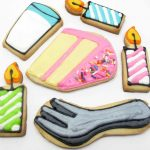 birthday cookies - how to decorate cake, milk, and candle cookies #cookiedecorating #birthdaycookies