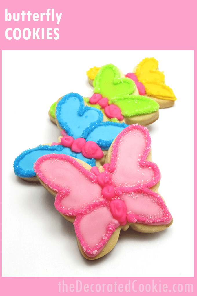 how to decorate butterfly cookies for Spring - the decorated cookie