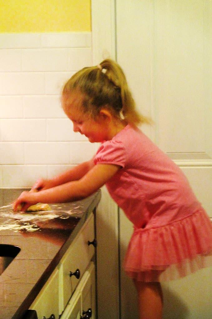 child baking