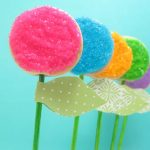 flower cookie pops