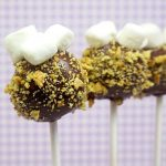 s'mores cake pops, a cute treat for summer #smores #cakepops