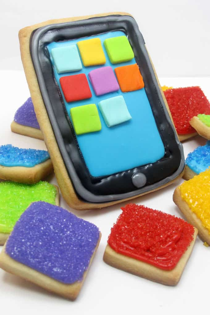 How to make iPad cookies, a fun food gift idea for your favorite screen-lover.
