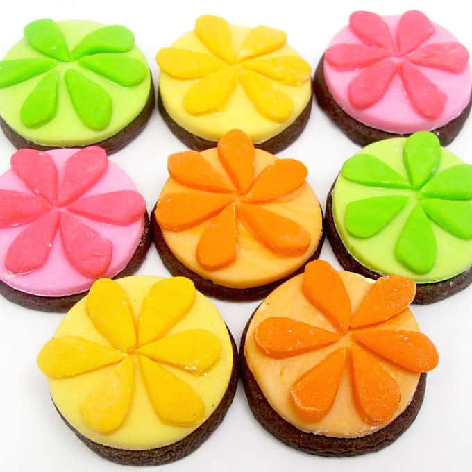 IZZE cookies: How to make colorful IZZE flower cookies -- the decorated cookie