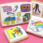 '80s cookies: How to decorate 1980s cookies with food coloring pens and royal icing, a fun food idea for an '80s party.