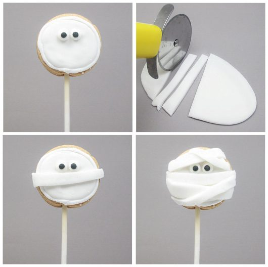 mummy cookie pops