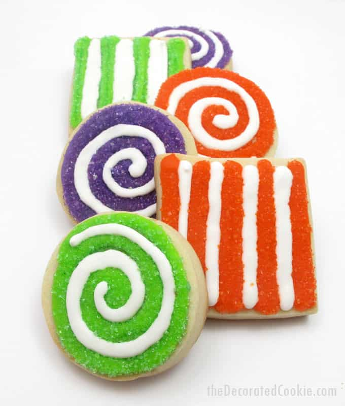 colorful sprinkle cookies -- swirl cookies with sprinkles for an easy cookie decorating idea