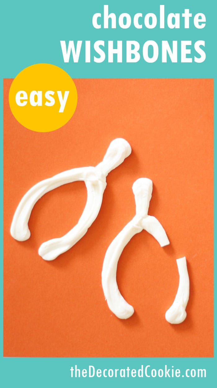 easy chocolate wishbones for Thanksgiving with video how-to