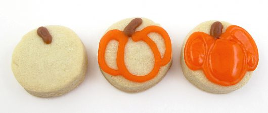 cornucopia cookies for Thanksgiving - mini pumpkin cookies