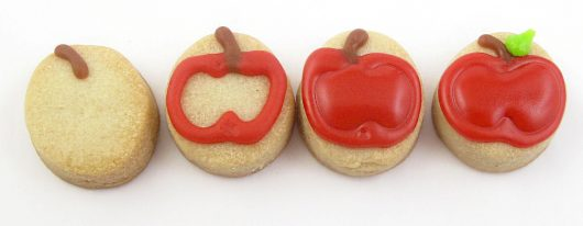 cornucopia cookies for Thanksgiving - mini apple cookies