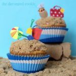 day at the beach cupcakes