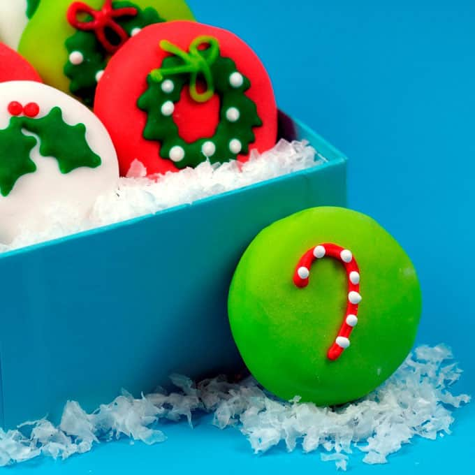 Christmas petit fours, straight from the pages of my cookbook, Sugarlicious