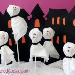 Cereal box haunted house and ghost treats