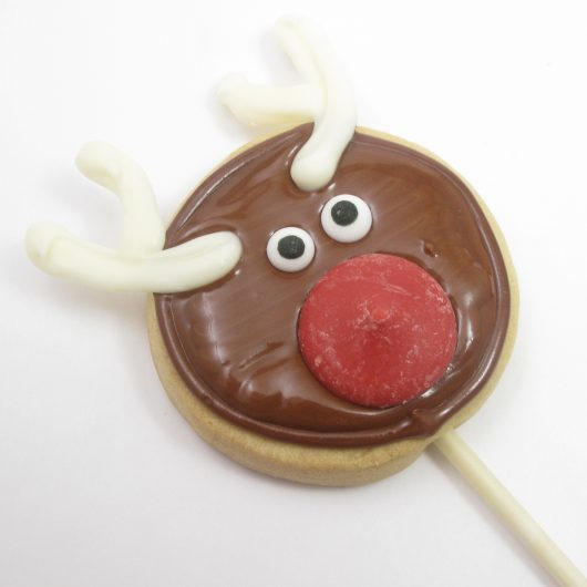 Rudolph cookie pops