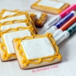 art party canvas cookies
