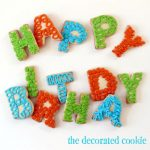 happy birthday letter cookies