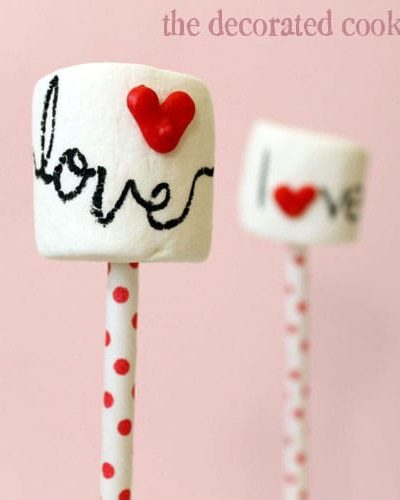 DIY heart sprinkles and marshmallow pops