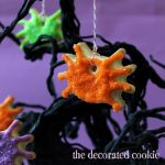 spider cookie ornaments