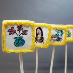 art gallery cookies on a stick