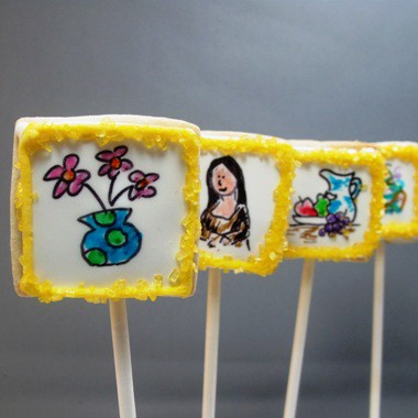 art gallery cookie pops - the decorated cookie