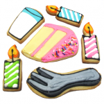 birthday cookies - the decorated cookie