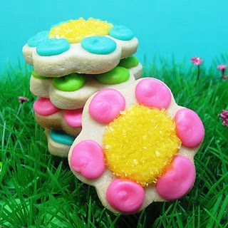 bug cookies for Spring - flowers