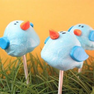 bluebird brownie pops by the decorated cookie