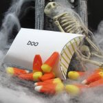 candy corn favors for Halloween