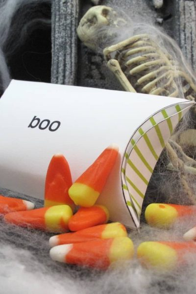 free Halloween candy corn box printable