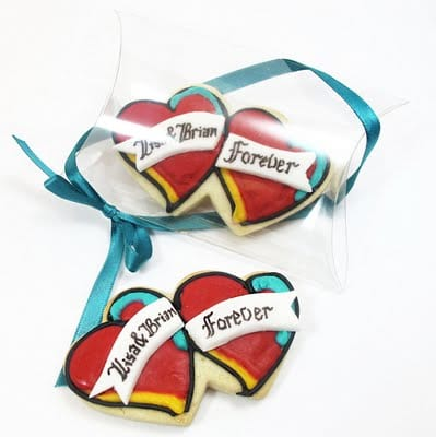 tattoo cookies for wedding favors