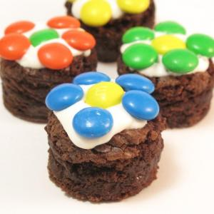 easy brownie daisy bites