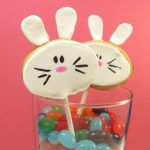 bunny cookie pops…and a silly chick