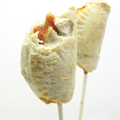 pizza pops-- pizza on a stick -calzones on a stick
