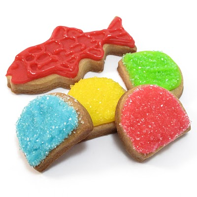 candy cookies (swedish fish and gumdrops)